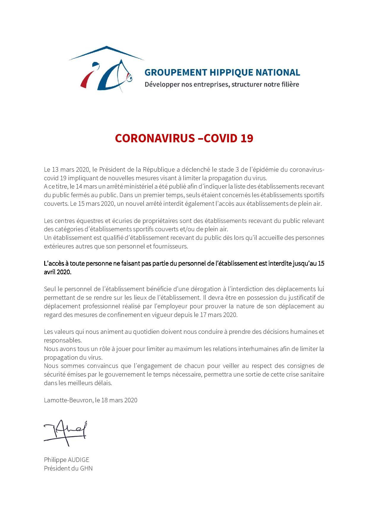 Courriers INFOS centres équestres   GHN et DRDJSCS
