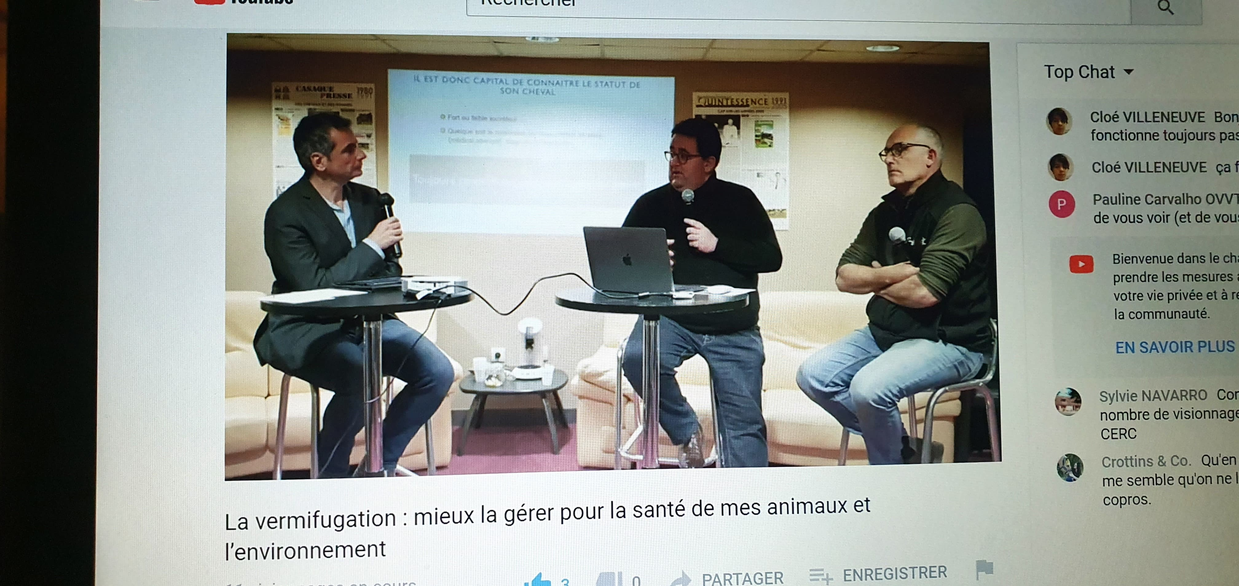 Table ronde sur la vermifugation et le parasistisme - Salon digital du cheval - replay