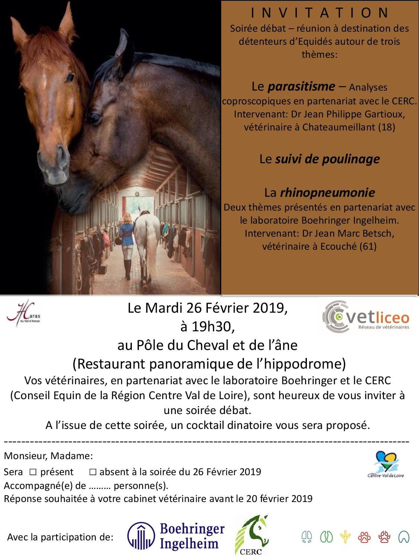 Soirée débat parasitisme/suivi du poulinage/rhinopneumonie