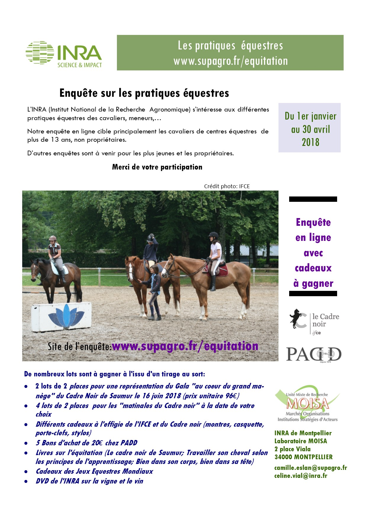 INRA : enquête sur les pratiques équestres