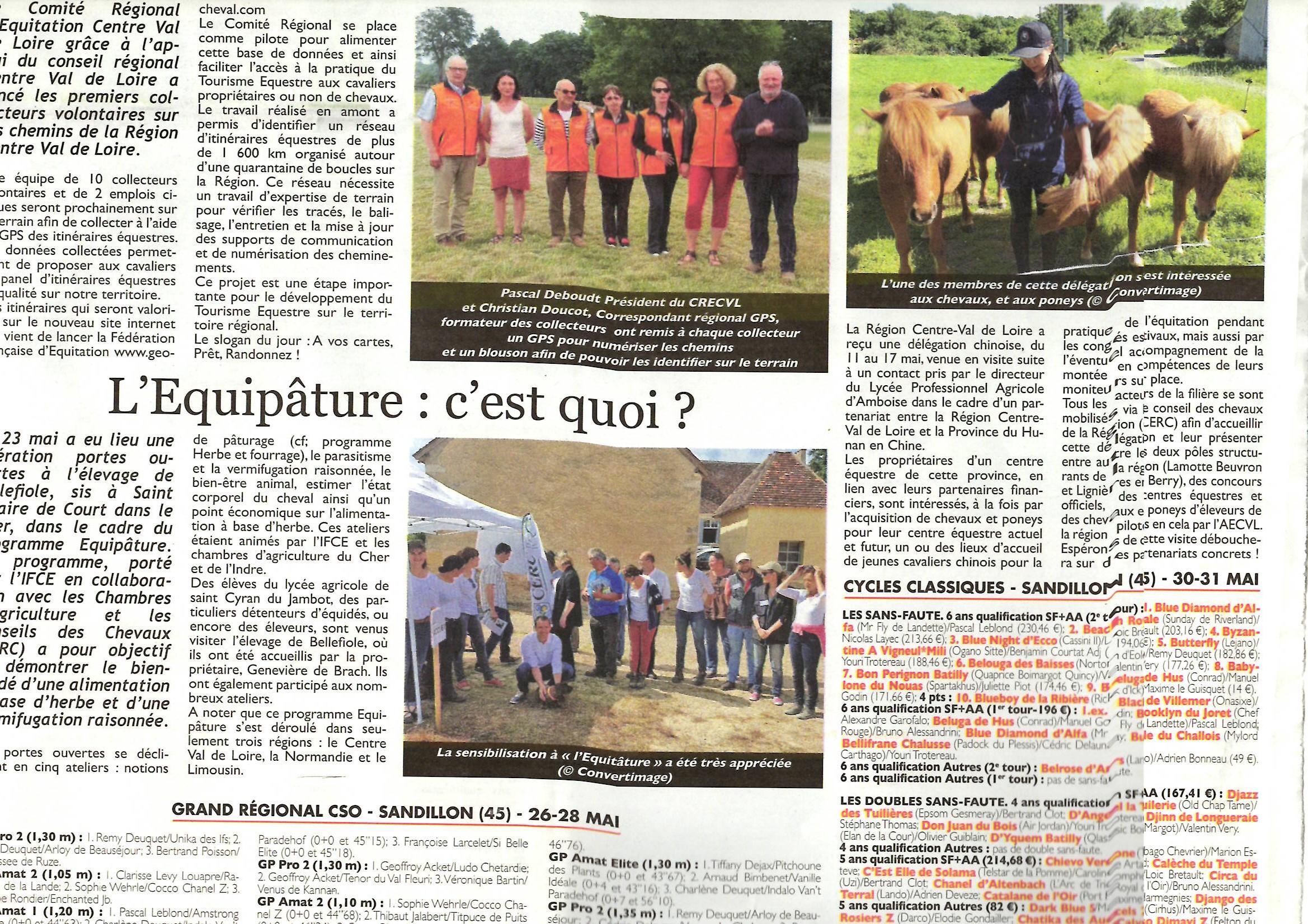 """Vu dans la Presse """"Le Cheval"""""""