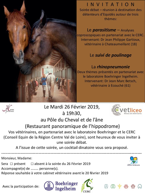 Soirée débat parasitisme/poulinage/rhinopneumonie