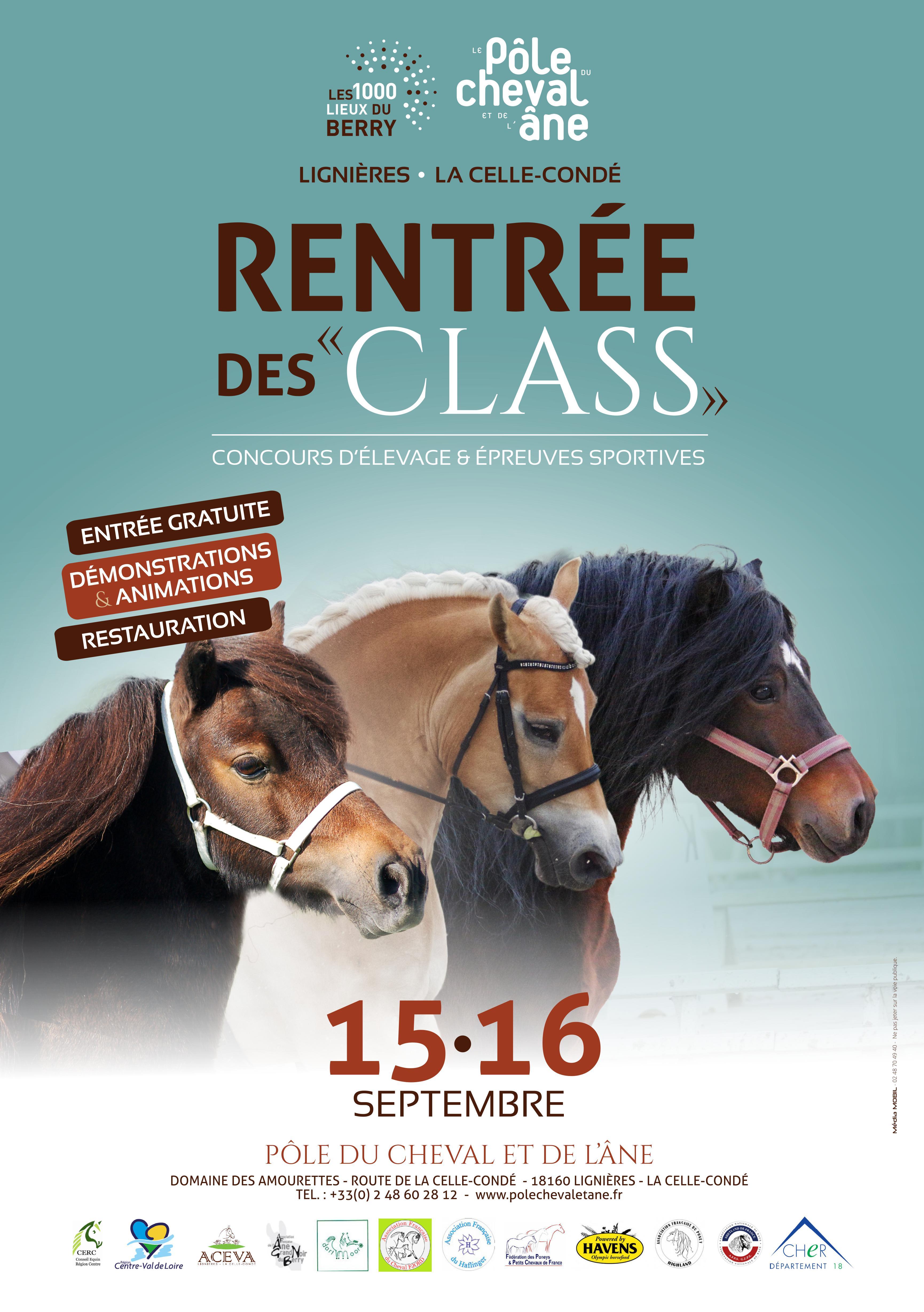 Rentrée des Class les 15 et 16 septembre à Lignières