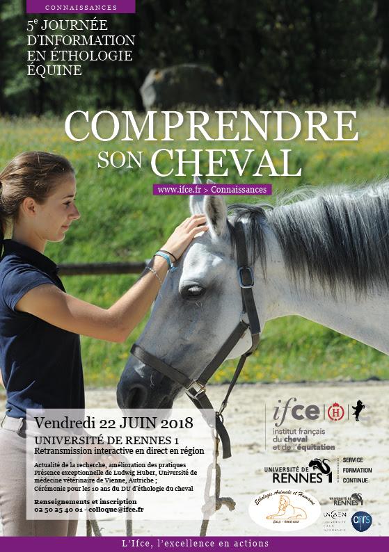 Comprendre son cheval: Journée éthologie équine 2018 Cognition et bien-être du cheval