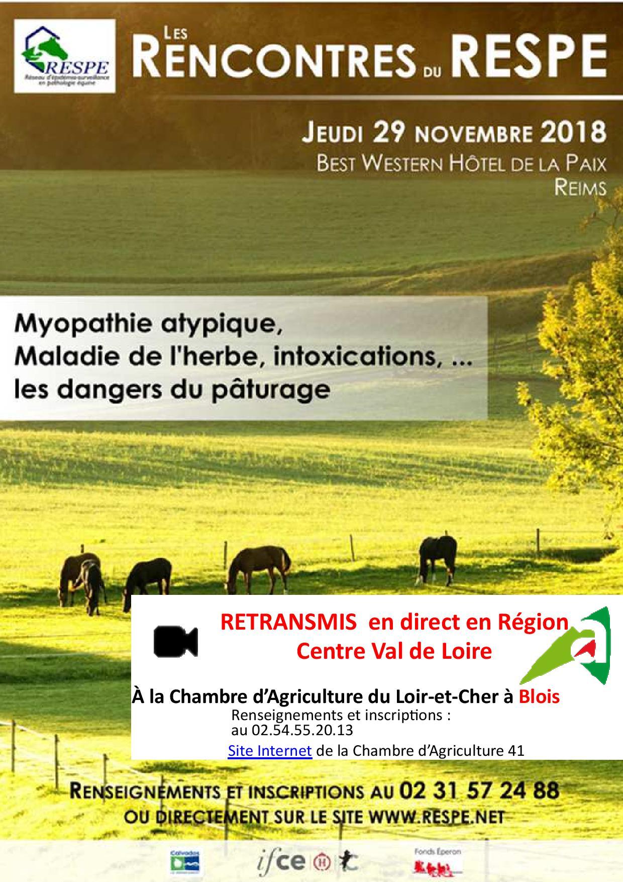 Les rencontres du RESPE retransmis à la Chambre d'Agriculture 41 : les dangers du pâturage