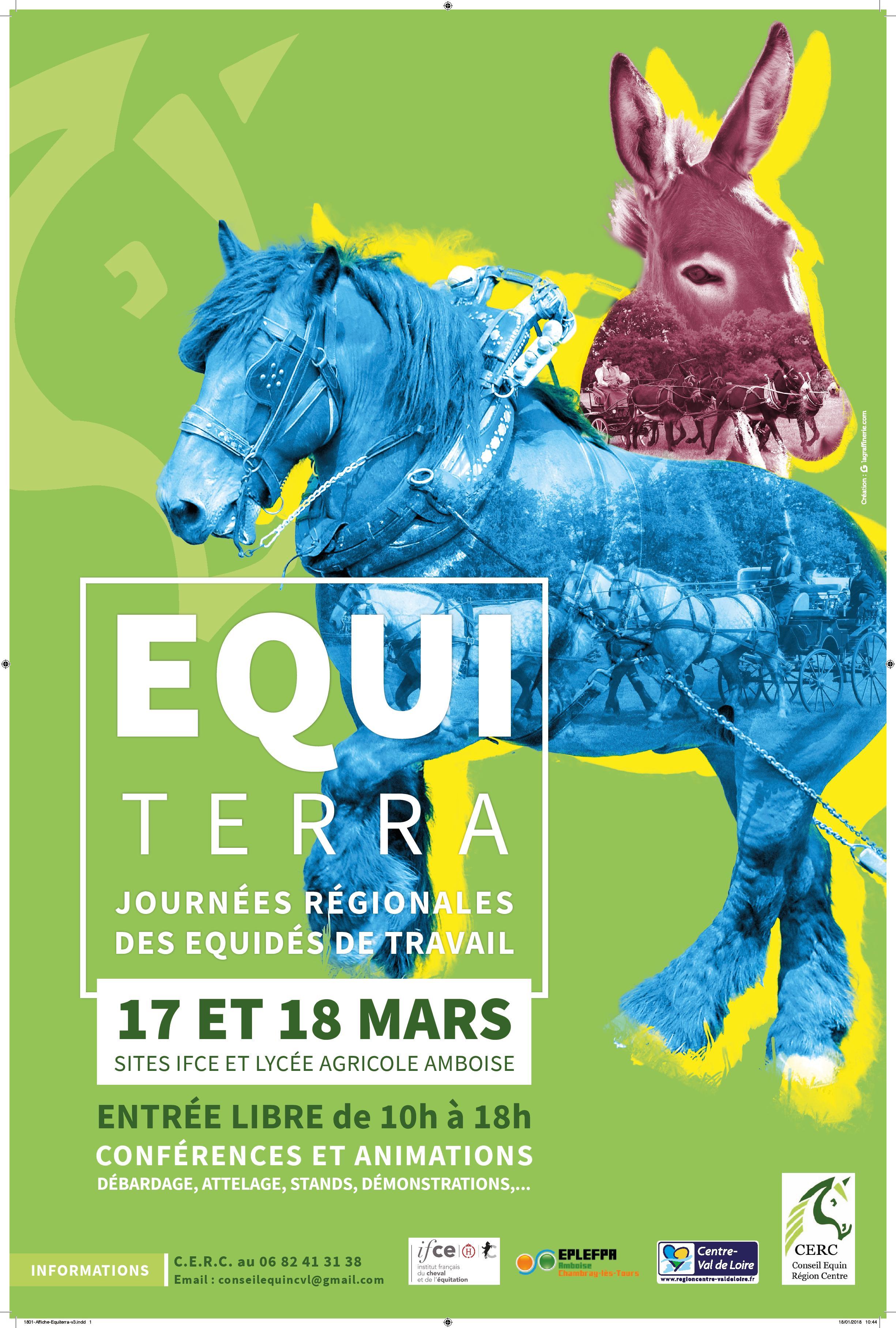 17 et 18 mars : EQUITERRA, journées régionales des équidés de travail